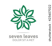Vector Leaf Seven With Natural...