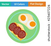 omlet and sandwich icon. vector ...
