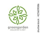 green garden natural ecology... | Shutterstock .eps vector #425609086