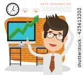 businessman employee concept...   Shutterstock .eps vector #425613202