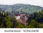 castle of dracula in bran ... | Shutterstock . vector #425613658