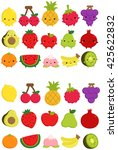cute fruit icon | Shutterstock .eps vector #425622832