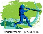 concept of sportsman playing... | Shutterstock .eps vector #425630446