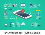 technology background  vector... | Shutterstock .eps vector #425631586