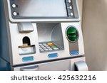 blue atm machine   Shutterstock . vector #425632216