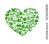 ecology icons | Shutterstock .eps vector #425634808