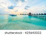 beautiful tropical maldives... | Shutterstock . vector #425643322