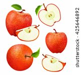 vector set of fresh ripe red... | Shutterstock .eps vector #425646892