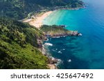 panoramic view of urdaibai and... | Shutterstock . vector #425647492