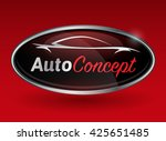 concept automotive logo design... | Shutterstock .eps vector #425651485