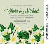 wedding invitation card with... | Shutterstock .eps vector #425659816