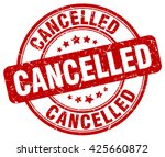 cancelled. stamp | Shutterstock .eps vector #425660872