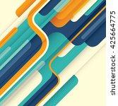 modern abstract illustration in ... | Shutterstock .eps vector #425664775