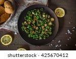 tasty fried green pepper on a... | Shutterstock . vector #425670412