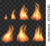 realistic fire animation... | Shutterstock .eps vector #425672182