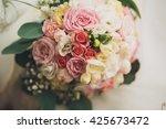 wedding perfect bridal bouquet...   Shutterstock . vector #425673472