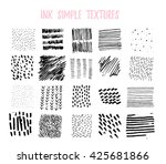 set of hand drawn stylish... | Shutterstock .eps vector #425681866