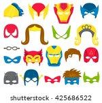 Super Hero Masks Set. Superher...
