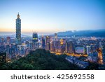 The Taipei City Skyline At...