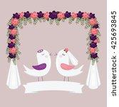 chuppah with birds. jewish...   Shutterstock .eps vector #425693845
