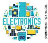 home electronics appliances... | Shutterstock .eps vector #425703286