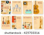 retro equipment music set... | Shutterstock .eps vector #425703316