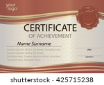 certificate or diploma template ... | Shutterstock .eps vector #425715238