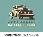 Retro Car Logo Illustration ...