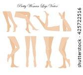 slim  long  and elegant woman... | Shutterstock .eps vector #425722516