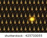 one bright light bulb among... | Shutterstock .eps vector #425733055