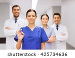 clinic  profession  people ... | Shutterstock . vector #425734636