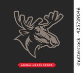 moose head symbol. great for... | Shutterstock .eps vector #425739046