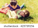 summer  childhood  leisure and... | Shutterstock . vector #425739256