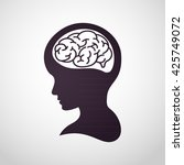 children brain logo vector | Shutterstock .eps vector #425749072