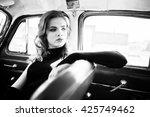 portrait of beautiful fashion...   Shutterstock . vector #425749462
