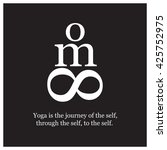 yoga is the journey of the self ... | Shutterstock .eps vector #425752975