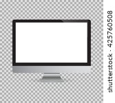 realistic computer monitor... | Shutterstock .eps vector #425760508