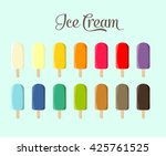 vector ice cream set | Shutterstock .eps vector #425761525