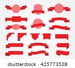 ribbon banner set.red ribbons... | Shutterstock .eps vector #425773528