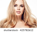 beautiful woman blonde hair... | Shutterstock . vector #425782612