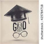 congratulations on graduation ... | Shutterstock .eps vector #425784718
