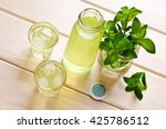 cold drink with mint in a glass ... | Shutterstock . vector #425786512