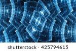 metal grid. protective field.... | Shutterstock . vector #425794615