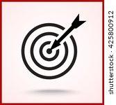 darts target sign icon  vector... | Shutterstock .eps vector #425800912