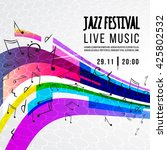 jazz festival poster template.... | Shutterstock .eps vector #425802532