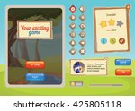 interface game design  resource ... | Shutterstock .eps vector #425805118
