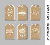 set of kraft labels for sale ... | Shutterstock .eps vector #425811205