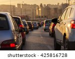 evening traffic. drivers who... | Shutterstock . vector #425816728