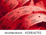 unwound messy roll of red... | Shutterstock . vector #425816752