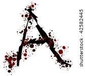 splatter letter a | Shutterstock .eps vector #42582445